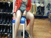 upskirt shoe store