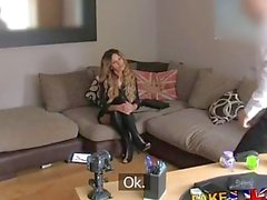 FakeAgentUK Enge Pussy Essex Küken kehrt für 2. Casting-Couch fucking