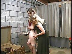 İki sevimli bodrum bdsm lezbiyen çıkarmak ve master Len Halatla olsun