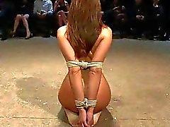 Frauenzimmer muss eine grobe der Folter ihr Frech Fotze
