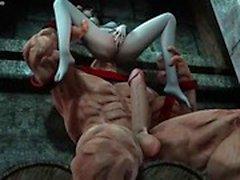 Animierten tramp wird Arschloch geleckt