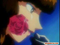 Bondage Anime personalisierten Botschaft hot dritt durchgefickt