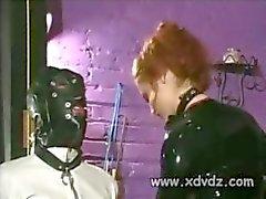 Mistress Gemini rankaisee hänen orja Sitominen Hänen Tool köysi Ja Selkäsauna Hänen Pähkinät