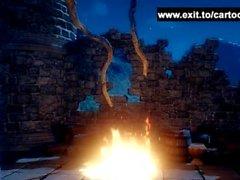 Монстры с гигантскими кранами по 3D сказке