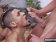Big Dick Homosexuell-Flip-Flop und Gesicht