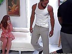 Мадди OReilly Получает двойное Ханы По Black Мужчины