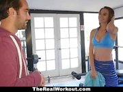 TheRealWorkout - Busty Teen Stretched Out By Dad's Friend