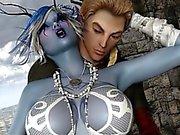 3D Große Brüste Elven Witch Sex-Fantasie!