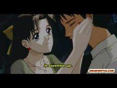 Japanische Mädchen anime hardcore vorbei ihren Meister gefickt