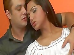 Sexy peituda transsexual Drikinha Lima analed