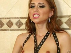 Skinny Riley Reed gets her bush licked in the bath