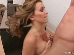 Round boobed Courtney Cummz has hardcore sex at work