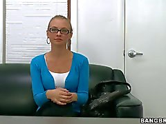Four eyed casting girl Natasha