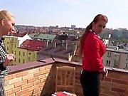 Bizarre les pissing roof