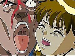 Hentai zerbrechlich Basic Teen wird schwer Reissen auf der Bank gebohrten