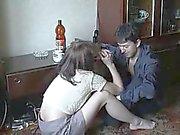 Irmão e da irmã bêbeda do incesto caseira