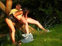 Modelo atractivo de la Fucked In The Park