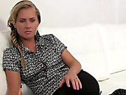 Female agent in pantyhose gets banged