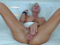 Oiled up viking milf masturbates 3