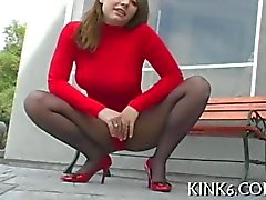 Ragazza Formosa propone in gustoso pantyhose