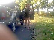 She drive me..