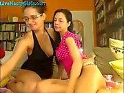 Zwei Webcam Lesben ficken mit Strapon