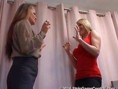 Demi & Sarah jogam Strip Tickle
