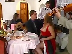 Zuzanna Gangbang in restaurant door TROC