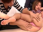 Aika tries several cock down her naughty love holes