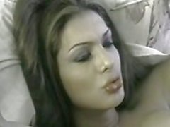 Transseksuele Beauty Queen Fucked