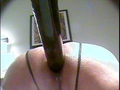 Benim büyük dışarı üflenir pislik etrafında büyük siyah yapay penis flopping.