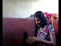 Hintli Kız Banyo Onun Self Vur