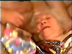 My old aunt drinking all my cum !