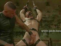 Eccelso powerfull dell'uomo mortifica che domina povera schiava gay che
