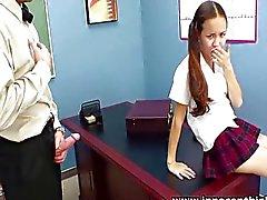 Teacher banging skinny Asian