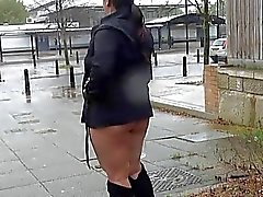 Chubby amateur babes public exhibitionism and bust