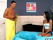 Latina teen Sampling a long and horny shaft