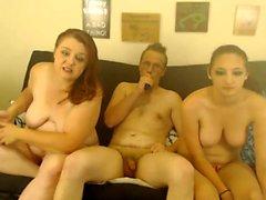 MMF Mature Threesome on webcam