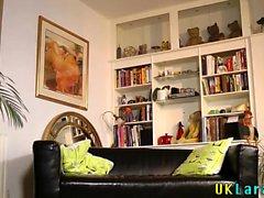 Older heeled brit jizzed