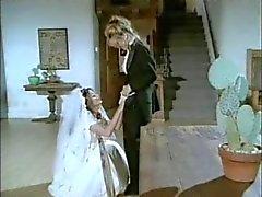 Lesbische witte bruiloft