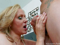 Curvy big titted mature blonde Julia Ann is his buddy's