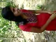Teen indian girl fucking outdoor with bf