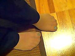 ЖЕН сексуальных pantyhosed футов