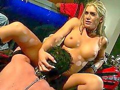 Femdom bike pussy mistress with horny slave