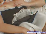 Horny French Slutty Maid Toy Masturbation