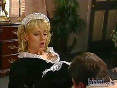 Sindee is busy deep throated maid