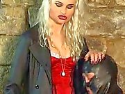 Blonde mistress nipple torture
