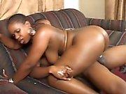 Saucy ebony babe enjoys taking in this hunk's big fat jackhammer
