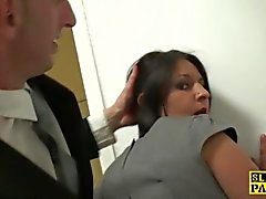British slag analfucked then facialized