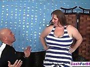 Huge BBW gets cash for fuck as stud destroys her wet clam